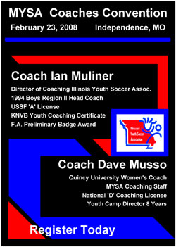 Register Now For Missouri Youth Soccer Association AGM
