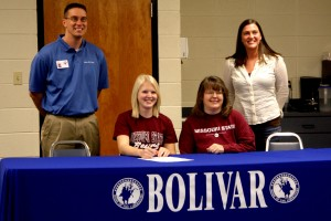 Jody McFarlen signs NCAA commitment papers with Missouri State Bears
