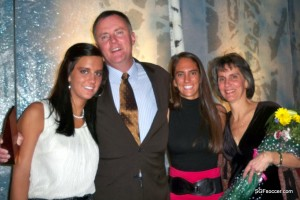 Brian Fogle, 2010 Springfieldian of the Year, with wife and daughters