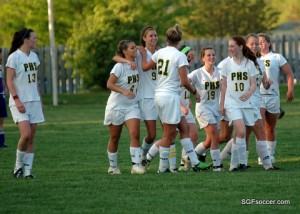 Parkview Vikings Celebrate Jessica Maerz (#9) game-winner