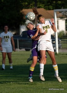 Jessica Maerz, Parkview Vikings (2010) wins the header