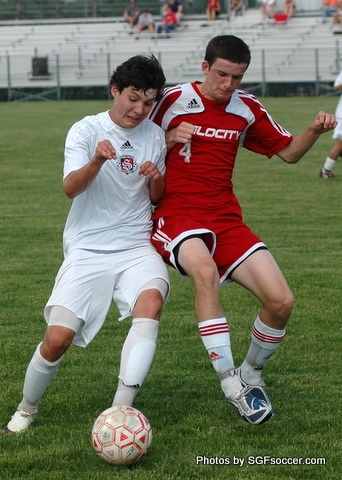 Jackson Patillo (Willard 2011) battles KC Blaze (red)