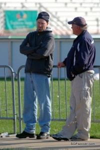 Jeremy Alumbaugh with Dale Schilly, State Semifinals, Nov 2009