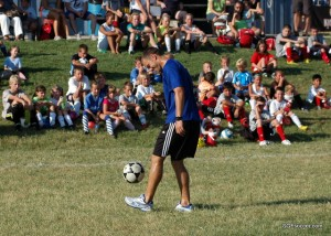 Jack Jewsbury at Kickin' It With The Kids clinic in Springfield, MO