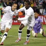 Landon Donovan Celebrates Against Algeria