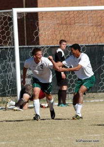 Spencer Brinkmeyer, Missouri S&T Miners (2013) celebrates his 2nd goal