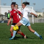 Sara Marcotte, MO Elite FC (Republic) defending against Springfield SC