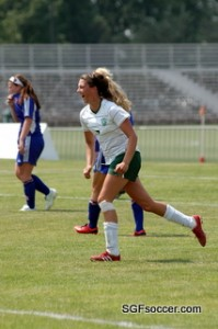 Courtney Devlin, Springfield Catholic (2011) celebrates her goal