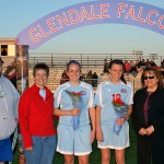 Bob, Sara and Emily Jordan, Senior Night 2009 with Frewins