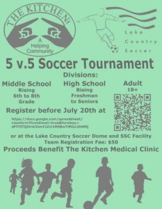 5v5 Soccer Tournament to Benefit The Kitchen Medical Clinic