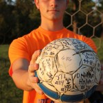 Rich Heenan, Crocker Lions on October 2 upon breaking career saves record with 686. Photo by Ashley  Burton.