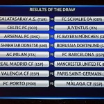 Champions League last-16 dr