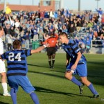 Robbie Kristo, after scoring against FDU in NCAA 2nd round match. By SoccerSTL.net