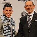 Mikey Lopez with Don Garber