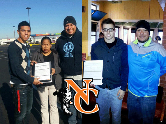 Ismael Serratos and Aaron Strunk, Neosho County Panthers soccer