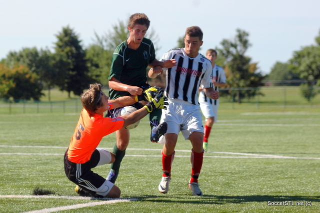 James Straus (SSC/Catholic) saves against SLSG Elite, 2012 Cup